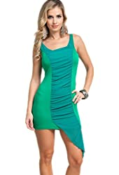 G2 Chic Women's Solid Centered Chiffon Tank Dress