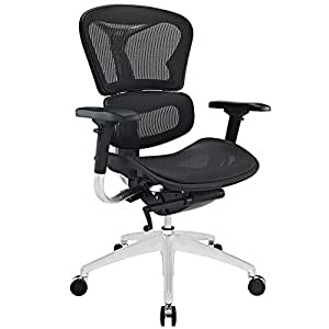Black Mesh Ergonomic Mid Back Office Chair FMP251423 Furniture