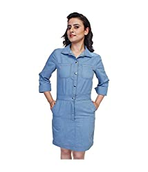 Tryfa Women's Dress (Tryfa-2-XS_Blue_X-Small)