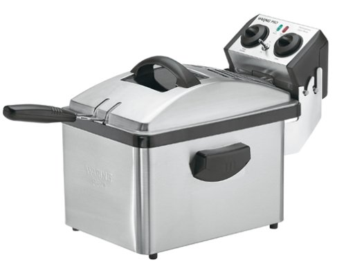 Waring DF200 Professional Deep Fryer, Brushed Stainless Steel (Waring Deep Fryer Cord compare prices)