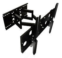 Dual Extended Arm Tilt/Swivel WALL MOUNT Bracket for LED LCD Plasma HDTV TV 32-63 inch screen - VESA up to 600x400
