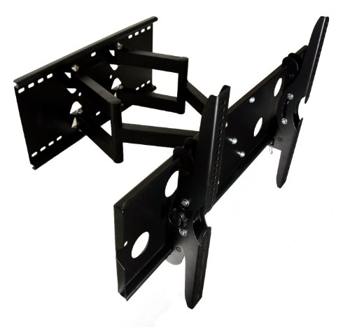 Mount-It! New Universal Premium Heavy Duty Dual Arm Swivel Swiveling Tilt Tilting Articulating Full Motion Corner Cantilever Wall Mount Bracket For Fits Sharp 32 37 40 42 46 50 52 55 Led Lcd Plasma