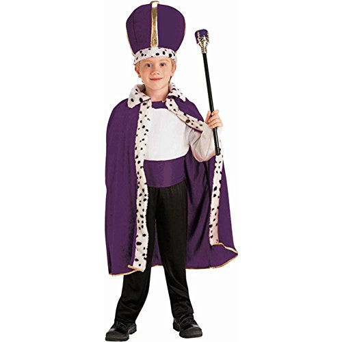 Purple King Robe & Crown Kids Costume Set