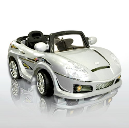 New Silver MP3 Kids Ride on R/C Remote Control Power Wheels Car RC Ride On Car