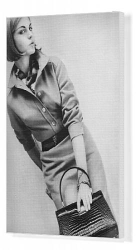 Canvas Print of Shirtwaister dress, 1962