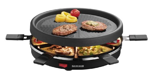 Severin 6 Pan Raclette Non Stick Party Grill - S2671