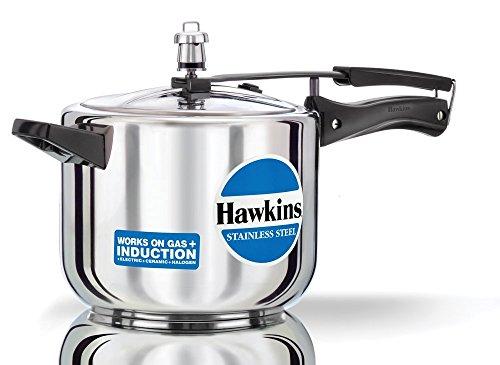 Hawkins B30 Stainless Steel Pressure Cooker, 5.0-Litre