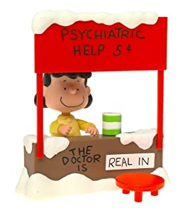 Peanuts Lucy Van Pelt with Psychiatric Mood Booth Playset - The Doctor is In! A Charlie Brown Christmas