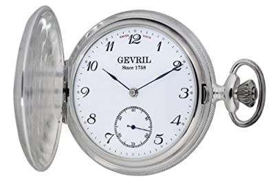 "Gevril Men's G680.021.25 ""1758 Collection"" Mechanical Hand Wind Swiss Pocket Watch"