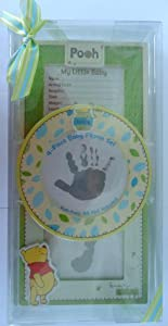 Disney Winnie The Pooh 4 Piece Frame Gift Set for Handprint, Footprint, Baby Picture or Baby's Record