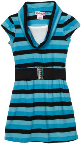 Kids Turquoise Stripe Dress