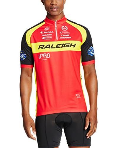 MOA FOR PROFI TEAMS Maglia Ciclismo Raleigh [Rosso/Giallo/Nero]