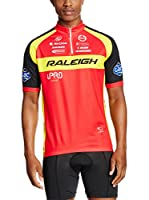 MOA FOR PROFI TEAMS Maillot Ciclismo Raleigh (Rojo / Amarillo / Negro)