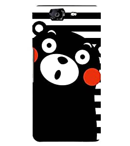 BLACK TEDDY BEAR CARTOONISH PIC 3D Hard Polycarbonate Designer Back Case Cover for Micromax Canvas Knight A350