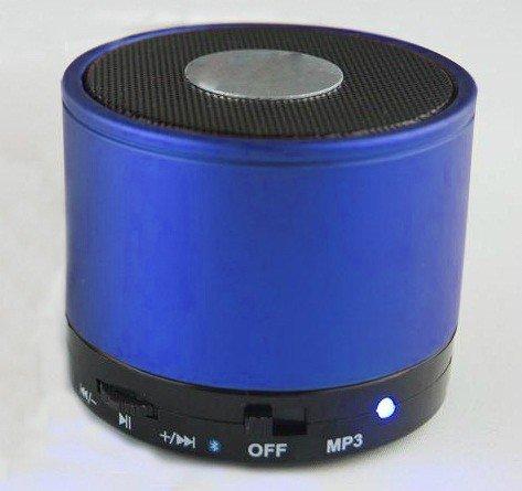 Best Shopper - Mini Bluetooth Wireless Mp3 Portable Hands-Free Speaker - Blue