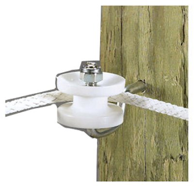 Dare Products 3283 Electric Fence Corner Post Bracket Kit, White - Quantity 10