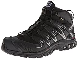 Salomon Men\'s XA Pro Mid GTX Hiking Shoe,Black/Asphalt/Pewter,10 M US