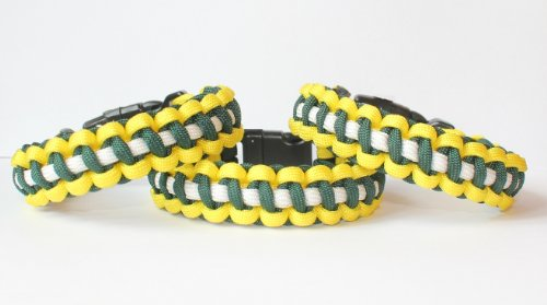 SENC-550-NFL-Military-Spec-Paracord-Dog-Collar-Green-Bay-Packers