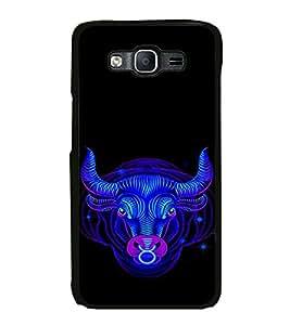 ifasho Designer Phone Back Case Cover Samsung Galaxy On7 G600Fy :: Samsung Galaxy Wide G600S :: Samsung Galaxy On 7 (2015) ( Royal White and Black Pattern )