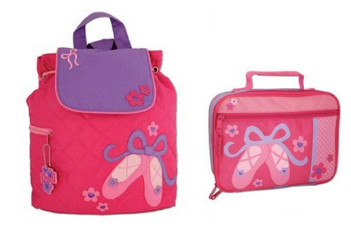 Stephen Joseph Quilted Backpack & Lunchbox, Ballet Shoes front-965677
