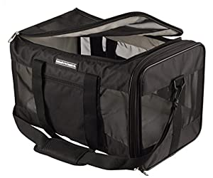 Caldwell's Pets Supply Co. Deluxe Top and Side Loading Soft-sided Airline Approved Airport Pet Carrier Travel Bag - Under Seat Carry-on for Cats and Small Dogs