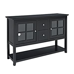 We furniture 52 inch wood console table tv stand black for Table 52 reviews