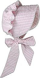 Brooke\'s Treehouse Limited Edition Little Girls\' Camille Bonnet Large Pink Seersucker
