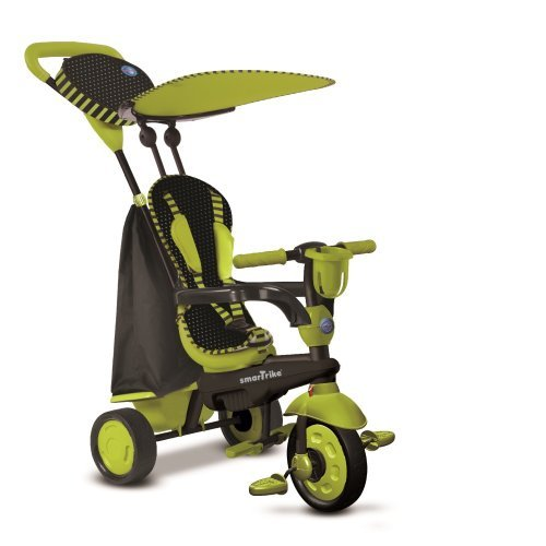 New-Smart-Trike-Spark-4-In-1-Touch-Steering-Tricycle-Bike-Stroller-Green-6752800-by-Smart-Trike