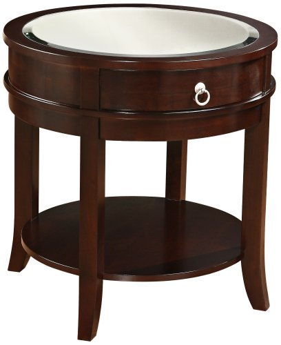 Buy low price layla round dark espresso wood end table for Buy round table