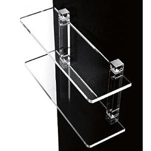 Mensole da bagno in plexiglass con supporti trasparenti - Mensole bagno plexiglass ...