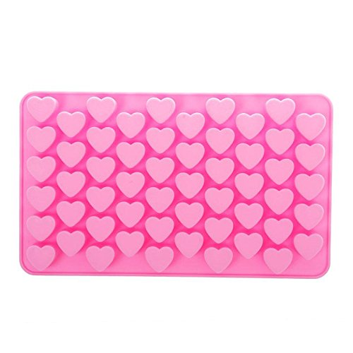 Silicone DIY 55 Mini Heart Shape Baking Mould Chocolate Mold Cake Decoration (Heart Baking Decorations compare prices)
