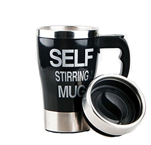 Viskey Creative Self Stirring Coffee Mug, Size2, Black