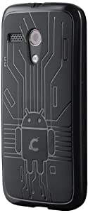 Cruzerlite Bugdroid Circuit Case for Motorola Moto G - Retail Packaging - Black