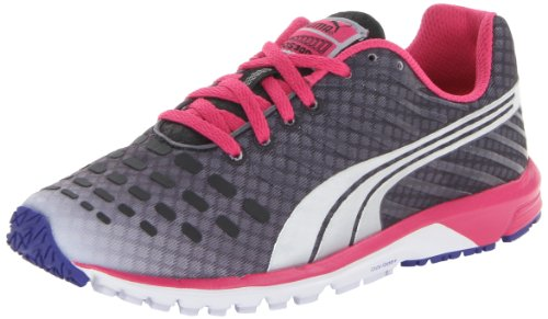 PUMA Women's Faas 300 V3 Running Shoe,Black/Beetroot Purple/Silver Metallic,9 B US