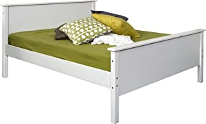 Steens Wooden Double Bed, 4ft 6in White from Non Branded