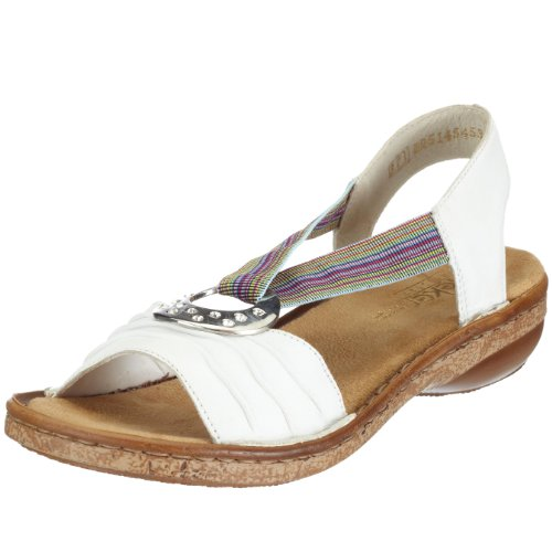 Rieker Women's Regina 62863-80 Weiss/Rainbow Slingback 62863-80 6 UK