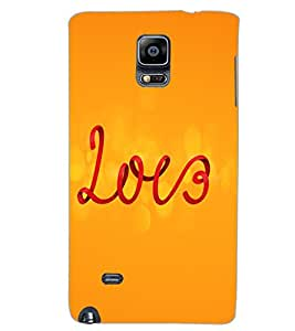 SAMSUNG GALAXY NOTE EDGE LOVE Back Cover by PRINTSWAG