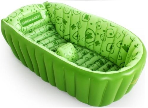 green baby bather