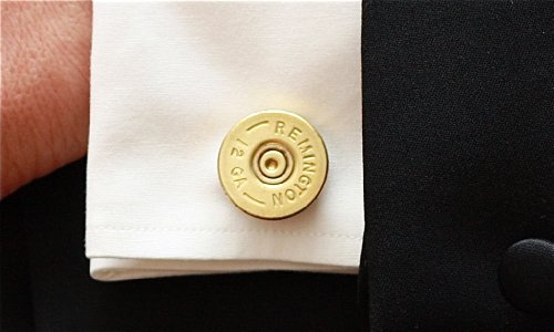 Remington Brass 12 Gauge Shotgun Shell Cufflinks