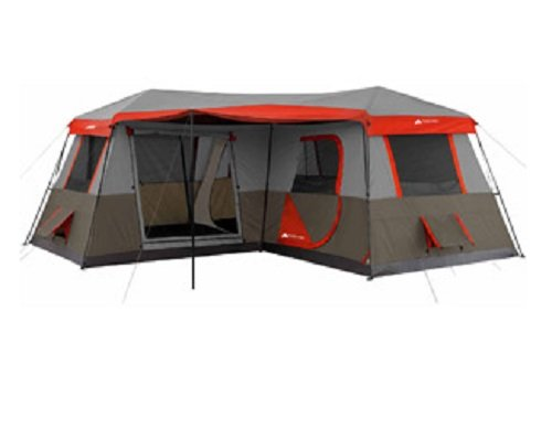 3 room cabin tent 16 16 sleeps 12 poles pre attached 2 for Small 2 room tent
