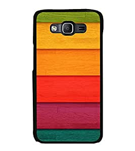 PrintVisa SAMON5-Colorful Wood Pattern Metal Back Cover for Samsung Galaxy On5
