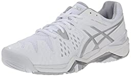 ASICS Women\'s Gel Resolution 6 Tennis Shoe, White/Silver, 6 W US