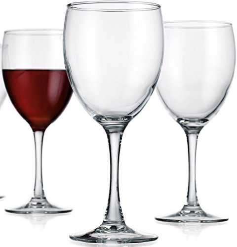 Circleware Vine Red white Wine Glasses Set, 11 Ounce, Set of 4 Goblets, Limited Edition Glassware Serveware Drinkware Drinking Glasses cups (Dessert Red Wine compare prices)