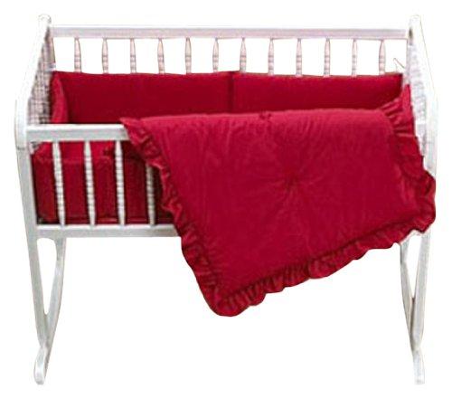 Imagen de Baby Doll Bedding Set Cuna Sólido, Rojo