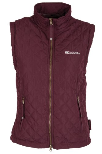 Eriskay Womens Body Warmer – Ladies Gilet Bodywarmer – Colour Burgandy Size 8