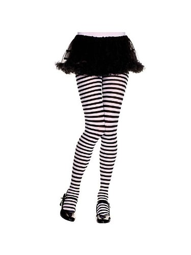 Black Striped Tights (Girl - ChildJuniors 11-14)