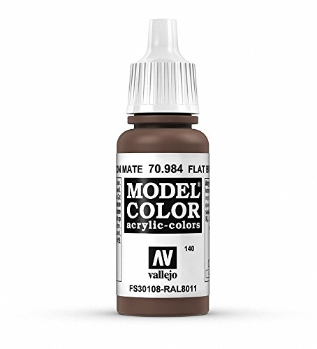 Vallejo Flat Brown Paint, 17ml