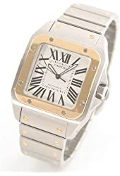 Cartier Santos 100 X-Large 18kt Yellow Gold Mens Watch W200728G Wrist Watch (Wristwatch)