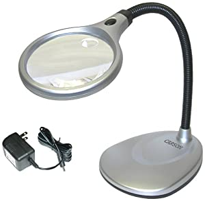 Carson DeskBrite 200 LED Illuminated 2X Magnifier & Desk Lamp (LM-20)