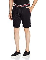 Superdry Men's Cotton Shorts (5054265261077_M71MT003F2_Large_Legion Blue)